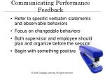 communicating performance feedback