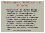 reinforcement punishment and extinction