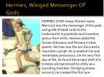 hermes winged messenger of gods