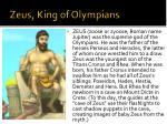 zeus king of olympians