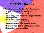 aigbpsi quality