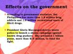 effects on the government42