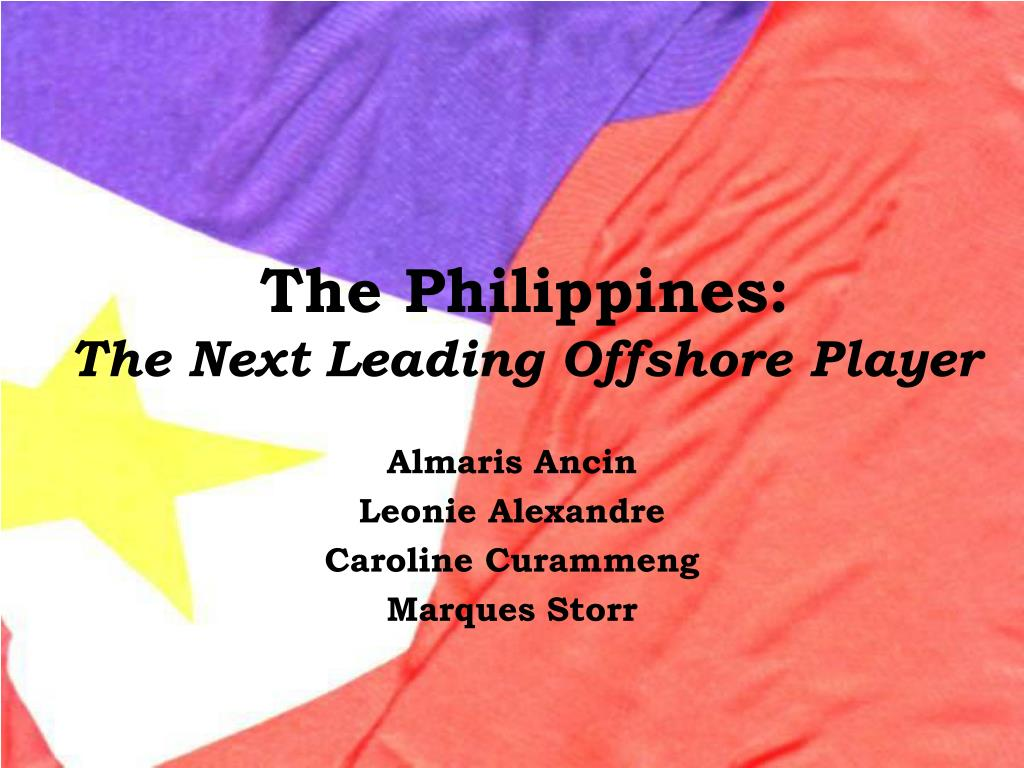 the philippines the next leading offshore player l.