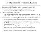 4 18 trump securities litigation
