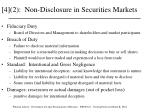 4 2 non disclosure in securities markets