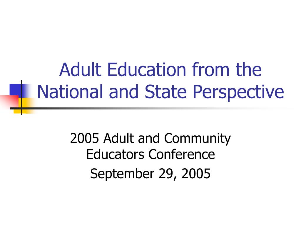 Adult Education from the National and State Perspective