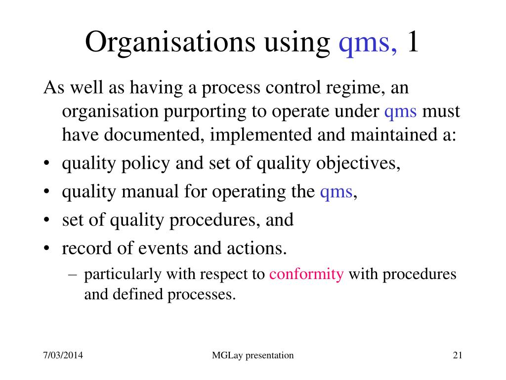 Organisations using
