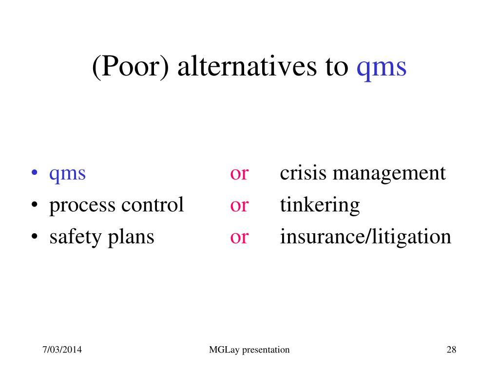 (Poor) alternatives to