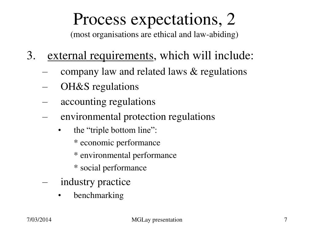 Process expectations, 2