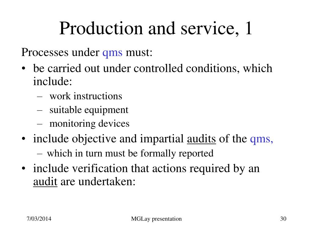 Production and service, 1