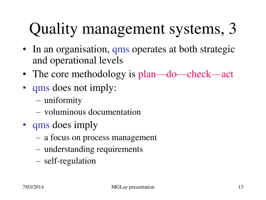 Quality management systems, 3