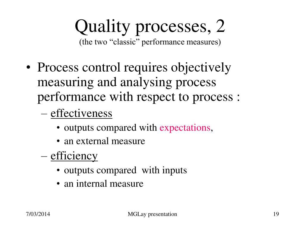 Quality processes, 2