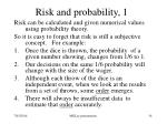 risk and probability 1