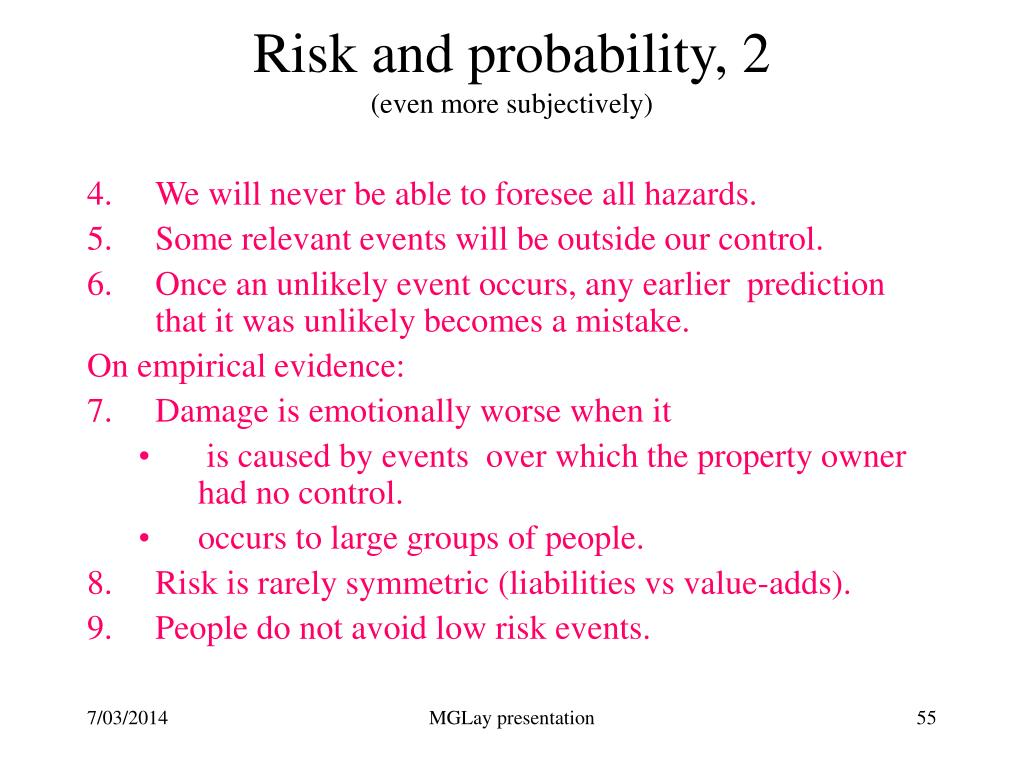 Risk and probability, 2