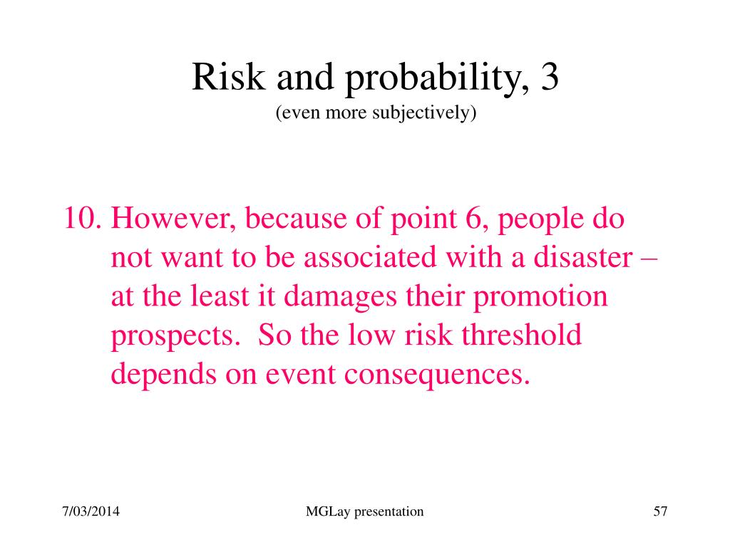 Risk and probability, 3