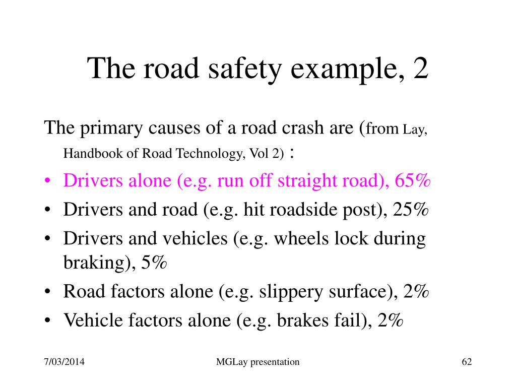 The road safety example, 2