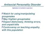 antisocial personality disorder41