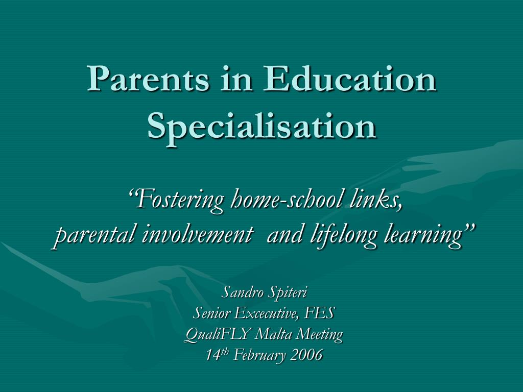 parents in education specialisation l.