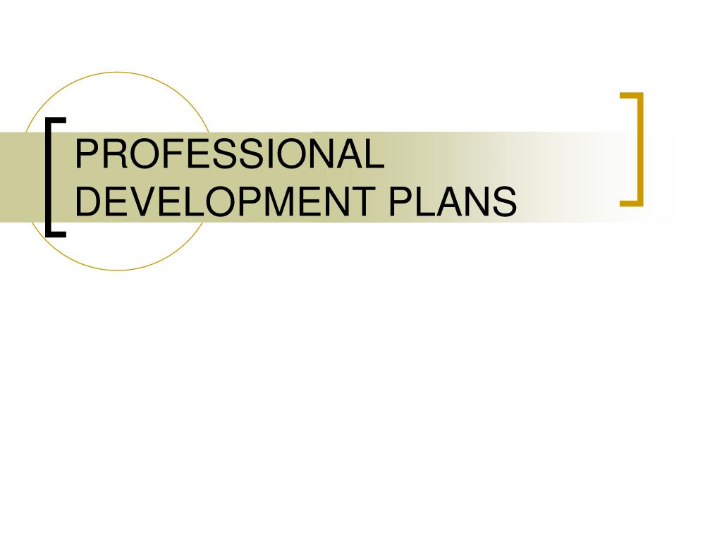 professional development plans l.