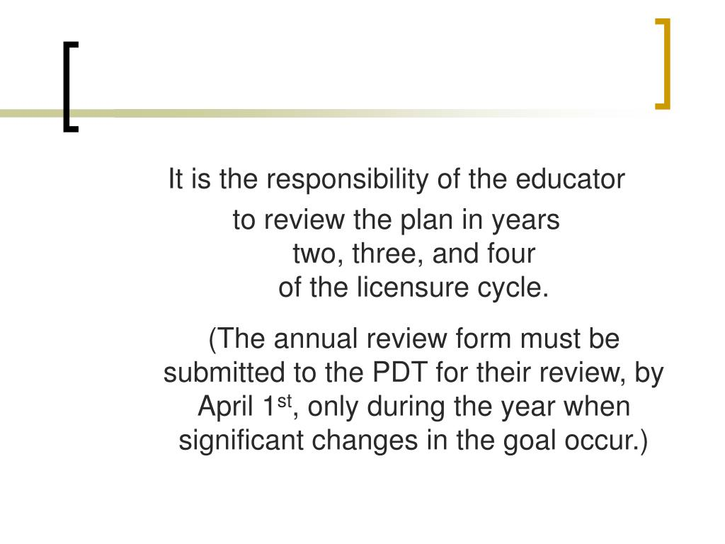 It is the responsibility of the educator