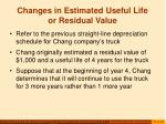 changes in estimated useful life or residual value27