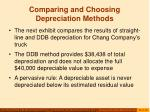 comparing and choosing depreciation methods