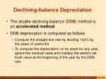 declining balance depreciation