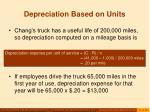 depreciation based on units21