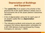 depreciation of buildings and equipment17