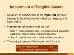impairment of tangible assets