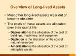overview of long lived assets6