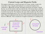 current loops and magnetic fields