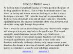 electric motor cont
