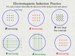 electromagnetic induction practice