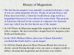 history of magnetism