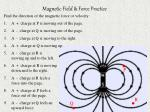 magnetic field force practice