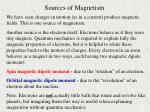 sources of magnetism