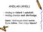 andlag andl