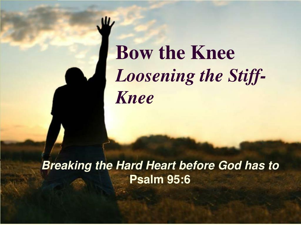 bow the knee loosening the stiff knee l.