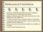mathematical contribution