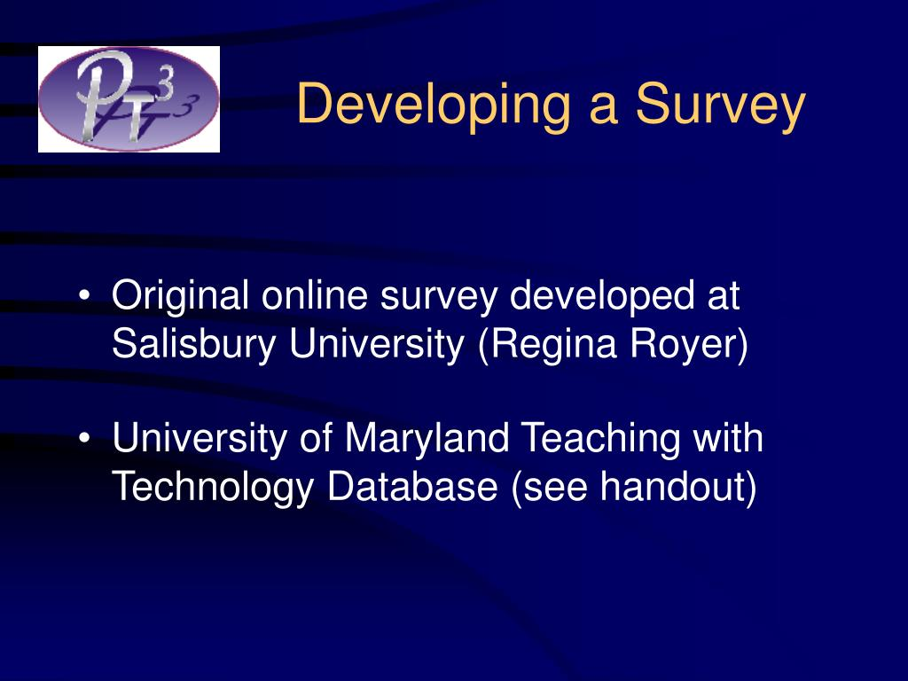 Developing a Survey