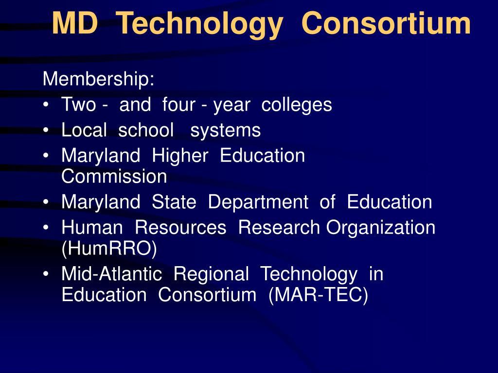 MD  Technology  Consortium