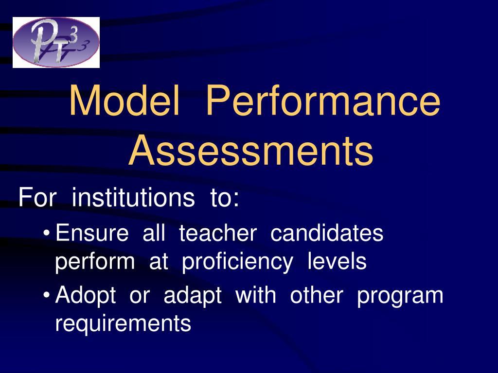 Model  Performance Assessments