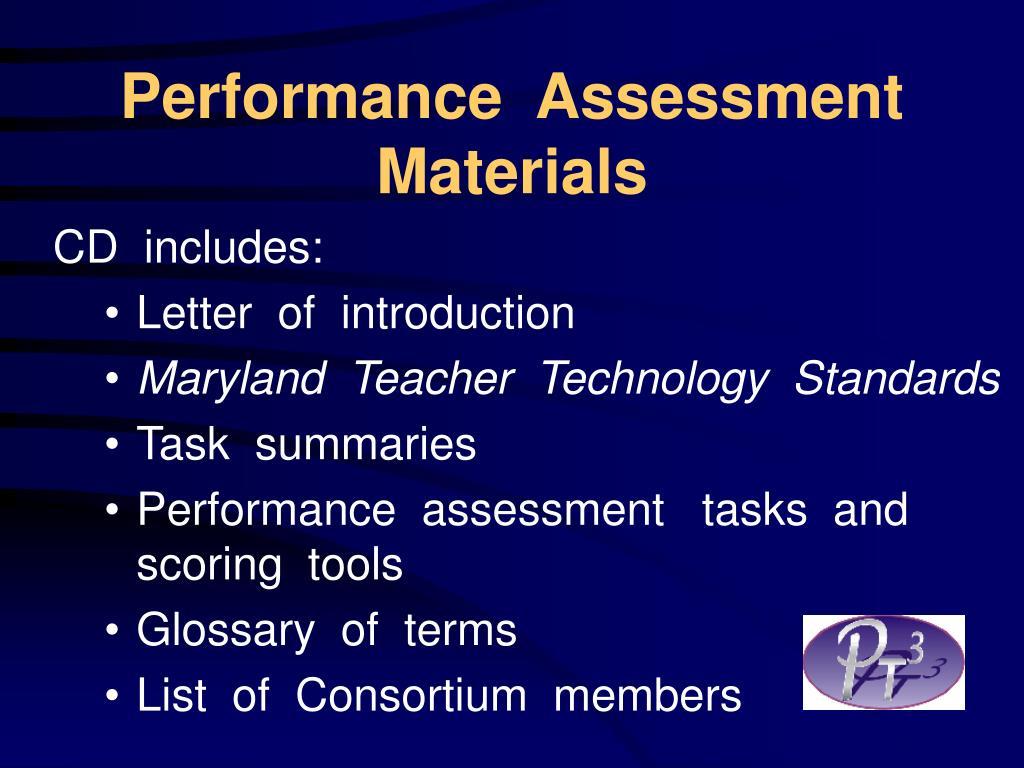 Performance  Assessment  Materials