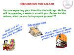 preparation for salaah