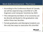 work skills development the future