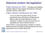 historical context the legislation
