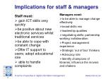 implications for staff managers