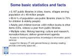 some basic statistics and facts