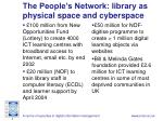 the people s network library as physical space and cyberspace